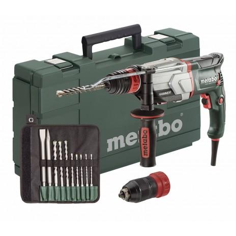 800W Ηλεκτρικό Περιστροφικό Πιστολέτο UHE 2660-2 QUICK Set με διπλό τσόκ 2 ταχυτήτων