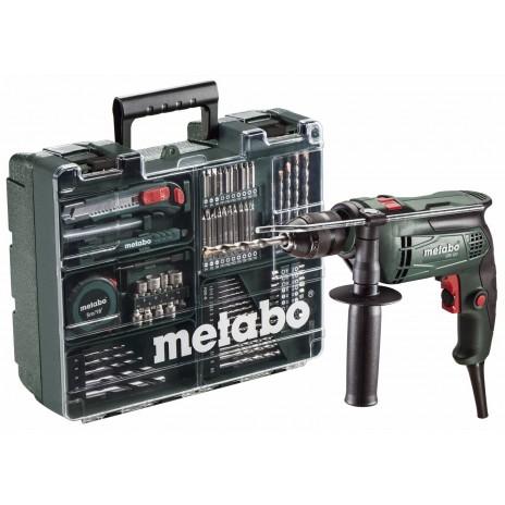 Metabo 650 Watt Ηλεκτρικό Κρουστικό Δράπανο SBE 650 SET Κινητό Συνεργείο