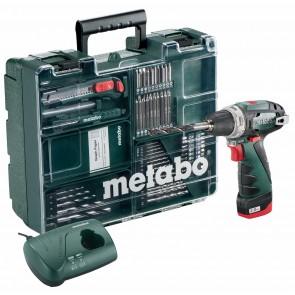 Metabo 10.8 Volt Δραπανοκατσάβιδο Μπαταρίας PowerMaxx BS Set