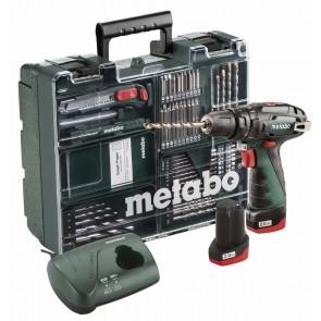 Metabo 10.8 Volt Κρουστικό Δραπανοκατσάβιδο Μπαταρίας PowerMaxx SB Basic Set Κινητό συνεργείο