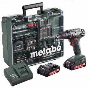 Metabo 18 Volt Δραπανοκατσάβιδο Μπαταρίας 2 Ταχυτήτων BS 18 Set Κινητό Συνεργείο