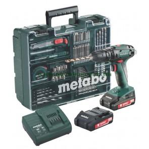Metabo 18 Volt Κρουστικό Δραπανοκατσάβιδο Μπαταρίας 2 Ταχυτήτων SB 18 Set Κινητό Συνεργείο