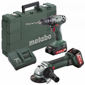 Metabo 18 Volt Combo Set Μπαταρίας 2.4.3 18 V BS 18 & W 18 LTX 125 Quick