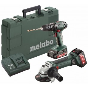 Metabo 18 Volt Combo Set Μπαταρίας 2.4.4 18 V SB 18 & W 18 LTX 125 Quick