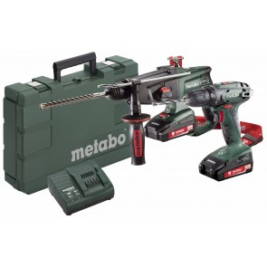 Metabo 18 Volt Combo Set Μπαταρίας 2.3.4 18 V SB 18 & KHA 18 LTX
