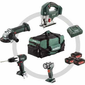 Metabo 18 Volt Combo Set Μπαταρίας 4.1 SB 18 LT + STA 18 LTX + W 18 LTX 125 Quick + ULA