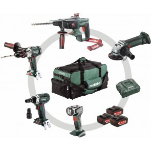 Metabo 18 Volt Combo Set Μπαταρίας 5.1 SB 18 LTX + KHA 18 LTX + W 18 LTX 125 Quick + SSW 18 LTX 200 + ULA