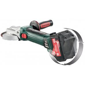 Metabo 18 Volt Γωνιακός Τροχός Μπαταρίας με Επίπεδη Κεφαλή WF 18 LTX 125 Quick