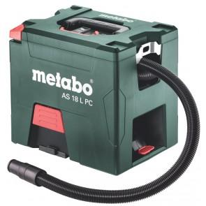 Metabo 18 Volt Σκούπα Γενικών Χρήσεων Μπαταρίας AS 18 L PC με χειροκίνητο φίλτρο καθαρισμού