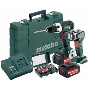Metabo 18 Volt Δραπανοκατσάβιδο Μπαταρίας BS 18 LT Set + Φακός ULA-LED + Κουτί με μύτες SP 32 τεμάχια