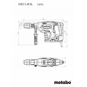 Metabo Ηλεκτρικό Σκαπτικό Περιστροφικό Πιστολέτο KHEV 5-40 BL SDS-max