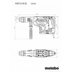 Metabo Ηλεκτρικό Σκαπτικό Περιστροφικό Πιστολέτο KHEV 8-45 BL SDS-max