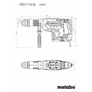 Metabo Ηλεκτρικό Σκαπτικό Περιστροφικό Πιστολέτο KHEV 11-52 BL SDS-max