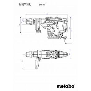 Metabo Ηλεκτρικό Κατεδαφιστικό Πιστολέτο MHEV 5 BL SDS-max