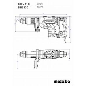 Metabo Ηλεκτρικό Κατεδαφιστικό Πιστολέτο MHEV 11 BL SDS-max