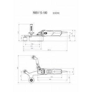 Metabo 1550 Watt Ηλεκτρικός Λειαντήρας Σωλήνων ΙΝΟΧ RBE 15-180 Set