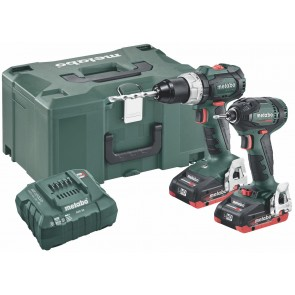 Metabo 18 Volt Combo Set Μπαταρίας 2.1.12 18 V BL LiHD SB 18 LT BL & SSD 18 LTX 200 BL