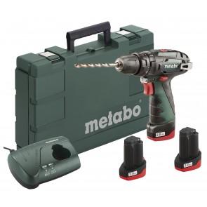 Metabo 10.8 Volt Κρουστικό Δραπανοκατσάβιδο Μπαταρίας 2 Ταχυτήτων PowerMaxx SB Basic Set με 3 μπαταρίες